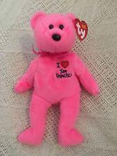 Ty Beanie Babies I  Love San Francisco Pink Teddy Bear Tag Excellent MWMT 2004