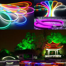 1-50M 2835 Waterproof LED Flexible Neon Rope Strip Light Outdoor Party 12V 220V