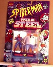 Spider-Man Web of Steel Spider-Man vs. Kingpin Die Cast Metal Marvel ToyBiz 1994