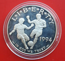 "USA-Amerika: 1994-S Silver Dollar, KM# 247, PP-PROOF, ""Soccer WC"", #F1806"