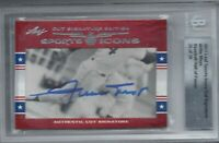 WILLIE MAYS 2011 LEAF SPORTS ICONS CUT SIGNATURE AUTO AUTOGRAPH #25/28 BGS