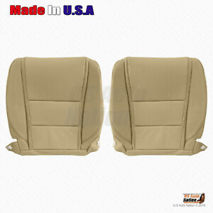 FRONT Bottoms Leather Seat Cover Fits 2009 2010 2011 2012 2013 2014 Acura TL Tan