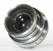 SERVICED Carl Zeiss Tessar T 5cm 2.8 13 Blades 50mm Exakta Lens Great Bokeh