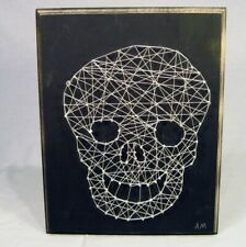 "Skull String Art 11 x 14"" Halloween Wall Art Year Round Display"