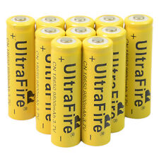 10 X 3.7V 18650 9800mAh Li-ion Rechargeable Battery For Flashlight Torch LED