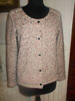 Veste blazer coton/polyester beige rose/marron LE TEMPS DES CERISES L 40/42