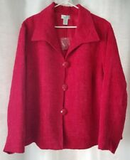 Laura Ashley Woman 3X Blazer Red Lined Textured