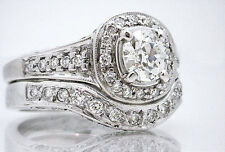 $10,500 2ct 18K White Gold Diamond Engagement Set w/ .70ct EGL CERT VVS2 Center