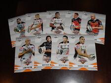 2013 NRL ELITE TEAM SET OF 9 CARDS WEST TIGERS
