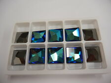 4 swarovski asymmetric flat square mosaic tiles(low),20mm bermuda blue V #2421