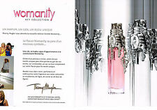 PUBLICITE ADVERTISING 014   2011   THIERRY MUGLER   parfum WOMANITY  ( 2 pages)