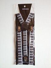 STYLISH FASHIONABLE MENS/LADIES PIANO KEYS BRACES SUSPENDERS  2.5cm