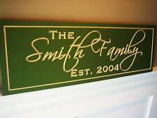 Personalized Family Name Sign Plaque Carved 8x24