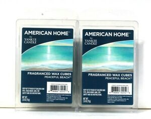 2 Packs American Home By Yankee Candle 2.6 Oz Peaceful Beach 6 Count Wax Cubes
