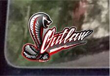 "ProSticker 700 (One) 4"" x 5"" Phantom Series  Hot Rod ""Outlaw"" Decal Sticker"