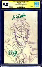 Mighty Morphin #2 MOMOKO SKETCH CGC SS 9.8 signed Jason David Frank JDF + KANJI