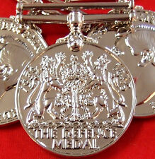 10 x WW2 THE DEFENCE MEDAL RIBBON MEDAL REPLICA MEDAL DISPLAY OR MOUNTING ANZAC