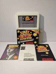 Kirby Super Star (Super Nintendo, 1996) SNES - Complete in Box - CiB!