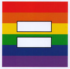 Rainbow Equal Sign - Small Marriage Equality Bumper Sticker / Decal