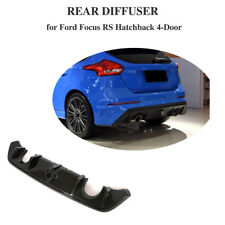 For Ford Focus RS 16-18 Rear Bumper Diffuser Body Kit Carbon Fiber Dual Exhaust