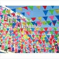 ca.10m Bunt Flagge Wimpelkette Wimpelgirlande Girlande Geburtstag Party Deko SF