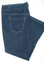LANE BRYANT Jeans Distinctly Boot Cut Blue Dark Wash Plus Size 26P Yellow Square