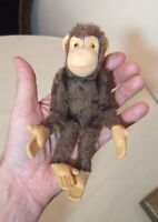 rare vintage mini handmade Steiff Jocko the monkey jointed mohair teddy bear