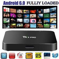 TX3PRO 4K HD Android 6.0 Smart TV BOX S905X Quad Core 16.1 WiFi LAN Media Player
