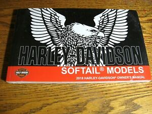 2018 Harley-Davidson Softail Owner's Manual NEW Breakout Fat Bob Low Rider