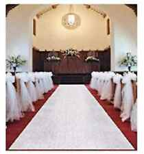 White Wedding Venue Aisle Runner Marriage Ceremony Party Bride Decor Carpet Roll
