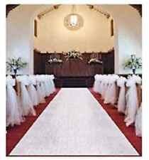 White Wedding Venue Aisle Runner Marriage Ceremony Party Bride Decor Carpet Roll