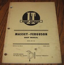 * Massey 1150 Mf1150 Tractor I&T Service Repair Shop Manual mf Issued 1974