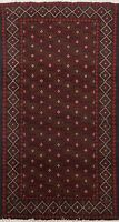 All-Over Geometric Balouch Afghan Oriental Area Rug Hand-Knotted Wool Carpet 3x5
