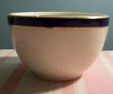 """Wood & Sons Bleu De Roi Cobalt Blue Band Gold Trim Bullion Cup 3 7/8"""""""