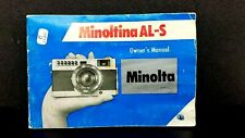 Original Minolta Al-S camera Owner's Operating Manual Instructions guide book