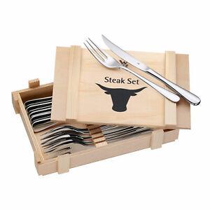 WMF Steakbesteck Set 12-teilig Steakmesser Steakgabel Edelstahl Rostfrei