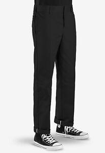 DICKIES Slim Straight Fit Work Pants WP873 BLACK | new