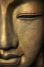 STUNNING ANCIENT BUDDHA STATUE #10 SPIRITUAL CANVAS PICTURE WALL ART A1 30x20