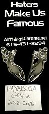 2008-2015 CHROME FOOT PEG BRACKETS  -STRAIGHT SALE- FOR SUZUKI GEN 2 HAYABUSA