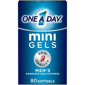 One A Day Men's 50+ Mini Gels Multivitamins Dietary Supplement 80 Count