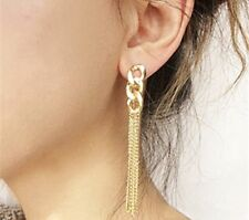 Gold Chain Long Drop Tassel Fashion Earring Boho Festival Party Boutique Uk