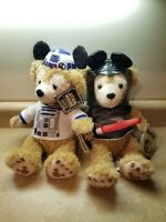 Disney Parks Star Wars & R2D2 Duffy Bear Darth Vader Plush Starwars NWT
