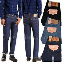 Levis Jeans 501 Mens Regular Fit Straight Leg 5 pockets Cotton Denim Jean