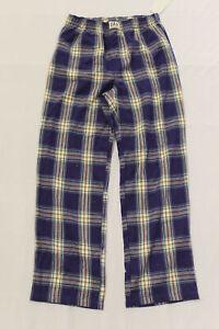 GAP Boy's Junior Checked Flannel Pajama Pants RH7 Blue Combo Size 10 NWT