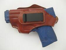 Armadillo Left Tan Leather Belt Holster w/clip for Glock 43 (H2L-43) (IWB/OWB)