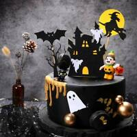 Halloween Witch Ghost Haunted House Pumpkin Bat Cake Topper Set Cake Decoration