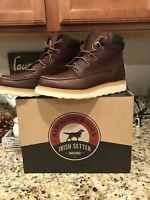 """RED WING Irish Setter Ashby 6"""" Brown Leather Soft Toe Boots   83605 Men's 11.0"""