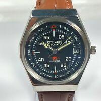 Vintage Citizen Mechanical Automatic Movement Date Dial Mens Wrist Watch C347