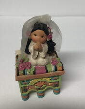Enesco Friends Of The Feather Praying Girl Communion Veil On Small Alter Box