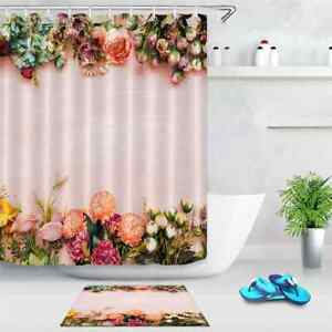 Fresh Lace Waterproof Bathroom Polyester Shower Curtain Liner Water Resistant
